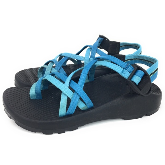 3298bb1a09e7 Chaco Shoes - Chaco ZX2 Yampa Gray Strappy Teal Sport Sandals
